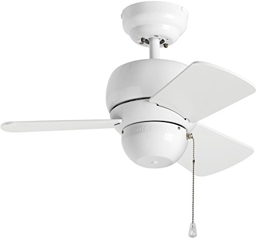 "Monte Carlo 3TF24WH Micro 24 Ceiling Fan, 24"", White"