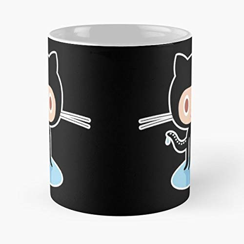 Github Octocat Binary Zip Coffee Mugs Unique Ceramic Novelty Cup