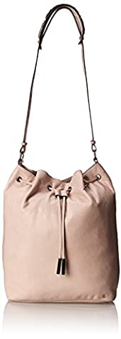 Elliott Lucca Marion Medium Drawstring Bucket Bag, Truffle, One Size - Elliott Lucca Leather Shoulder Bag
