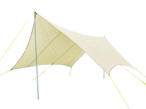 Monoprice Large Wing Tarp Shelter, 75D Nylon PU1500mm, Extra Large Coverage Up to 8 People, Sun Shelter and Rain Cover – from Pure Outdoor Collection