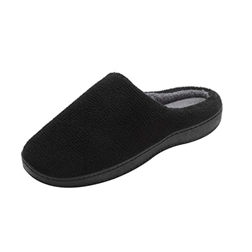 Slip Non Mens Durio House Home Black Shoes Winter Indoor for Womens Foam Coral Slippers Outdoor Fleece Comfort Memory vFHPFx