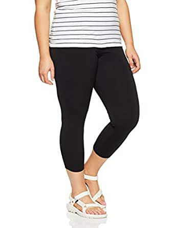 My Size Women's Plus Size Peep Out Legging, Black, X-Small
