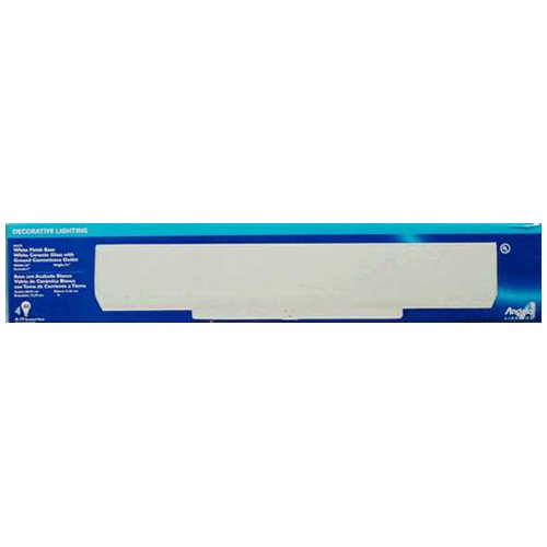 Westinghouse Bathroom Channel Fixture A19 4-1/2 In. White, W
