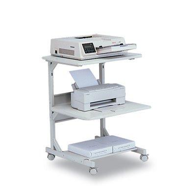(Dual Laser Printer Stand, Three-Shelf, 24w x 24d x 33h, Gray, Sold as 1 Each)