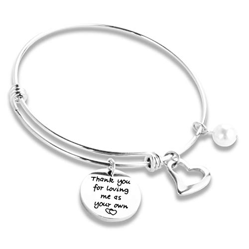 Hopyee Step-mom Gifts for Stepmom Jewelry Gifts for Step Mother Thank You Bonus Mom Gifts Best Stepmom Bracelet Stepmoms Gifts from Step Daughter Son Foster
