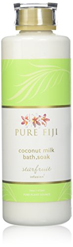 Pure Fiji Milk Bath Soak, Starfruit, 16 Ounce (Sugar Bath Soak)