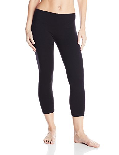 (No nonsense Women's Cotton Capri Leggings, Black, Large)