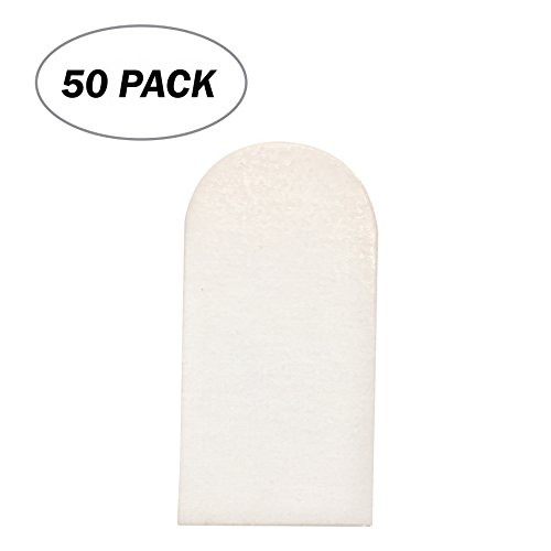 Board Game Pieces- 50 Pack- Blank 1 x 2 inches Rectangular Tombstone Diecut Token Cards Board Game Chits Tiles Counters Markers DIY D&D (Board Game Piece Stands)