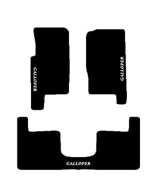Galloper 3 puertas Alfombras negros para coche, juego completo de alfombras de moqueta sobre tamaà ± o con bordado de hilo Bianco juego completo de alfombras de moqueta sobre tamaño con bordado de hilo Bianco SonCar