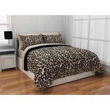 Reversible Cheetah - Formula Brushstroke Cheetah Reversible Bed in a Bag Bedding Set