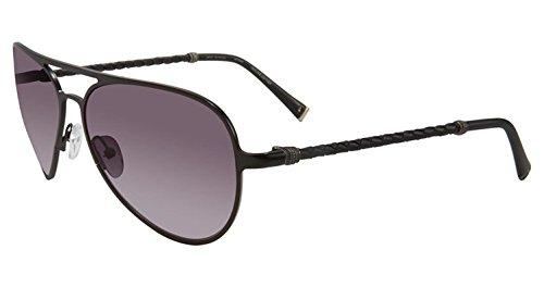 John Varvatos V514 Aviator Sunglasses, Matte Black, 15 - Jv Sunglasses
