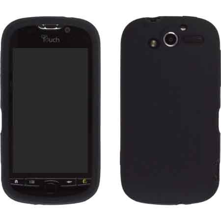 HTC myTouch 4G Silicone Gel Skin Case Black by