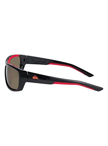 Noir Homme Black red de Shiny EQYEY03072 Quiksilver soleil Grey Lunettes pour Knockout qgBwTH0