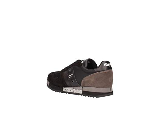 Nero Sneakers 39 In Usa Melrose Tessuto taglia Blauer Camoscio E Donna qw8fPS5