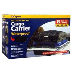(Cargoloc 32424 15-Cubic/Feet Deluxe Roof Top Waterproof Cargo Carrier)