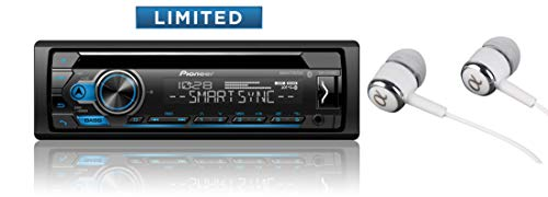 Pioneer DEH-S4120BT in Dash CD AM/FM Receiver with MIXTRAX, Bluetooth Dual Phone Connection, USB, Spotify, Pandora Control, iPhone and Android Music Support, Smart Sync App/Free ALPHASONIK Earbuds (Reproductor De Cd Y Radio)