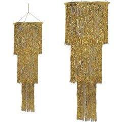 Gold Fringe Chandelier -