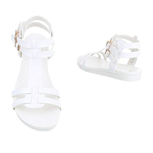 Ital-Design - Tira de tobillo Mujer Weiß S172-2