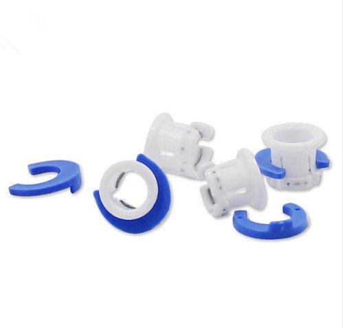 10 satz Wei? Bowden Rohrschelle Blau Rohr Pferd Clip Fest 6mm 3D Drucker Teile Schuhkupplung Spannzange Teil Kunststoff Zubeh?r HANDOO