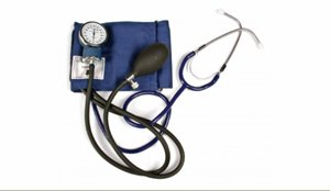 (Self-Taking Blood Pressure Kit with attached stethoscope)
