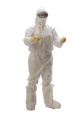 Large Pack of 25 Kimberly-Clark 88844 White KIMTECH PURE A5 Clean Processed Cleanroom Coverall Kimberly-Clark Corporation 1190V80CS