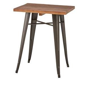木製ダイニングテーブル/リビングテーブル 【正方形 幅60cm×60cm】 天然木×スチール WPS B076CJY9M3