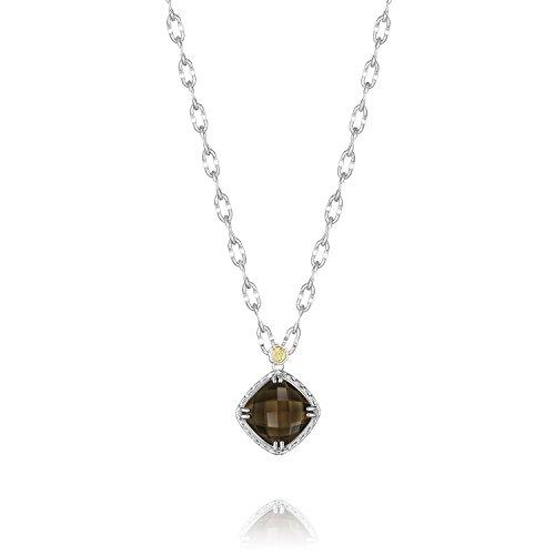 Tacori SN13517 Color Medley Sterling Silver Smoky Quartz Necklace, 18