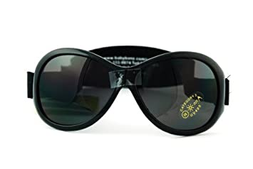 32b852f131 Image Unavailable. Image not available for. Color  Kidz Banz BL Black Retro  Banz 2-5 years Wrap Sunglasses ...