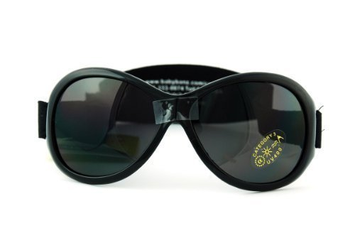 Kidz Banz BL Black Retro Banz 2-5 years Wrap Sunglasses Size Junior by Baby ()