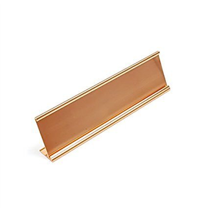Metal Desk Nameplate - Nameplate Holder (2