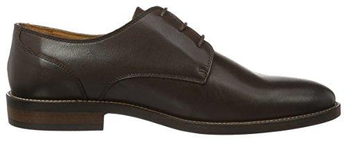 Tommy Hilfiger D2285aytona 1a, Zapatos de Cordones Derby para Hombre Beige (Coffeebean 018)