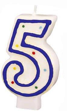 Número Pastel Velas Varios Números Y Colores