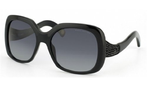 Marc Jacobs MJ428/S Sunglasses-0807 Black (HD Gray Gradient Lens)-57mm by Marc Jacobs