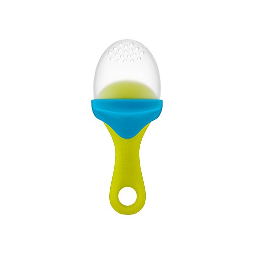 Boon Pulp Silicone Feeder, Green/blue (Boon Baby Spoon)