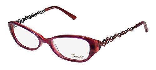 Thalia Erlene Womens/Ladies Rx Ready Genuine Designer Full-rim Eyeglasses/Eyewear (52-16-135, Purple / Coral)