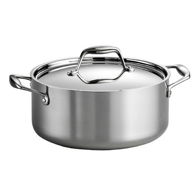 Gourmet Premium Stainless Steel 5-qt. Dutch Oven