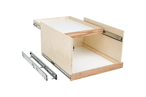 Slide-A-Shelf AMC-PL-DDU-15W18D14H-F Baltic Birch Double Dek System with Full Extension, 15'' x 18'' x 14'' by Slide-A-Shelf