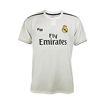 Camiseta 1ª Equipación Real Madrid 2018-2019 - Replica Oficial Licenciada - Dorsal 7 Ronaldo - Adulto Talla S - Medidas Pecho 51,5 - Largo Total 71,5 ...