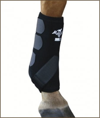 Professionals Choice Equine Smbii Leg Boot, Pair (Medium, Black)