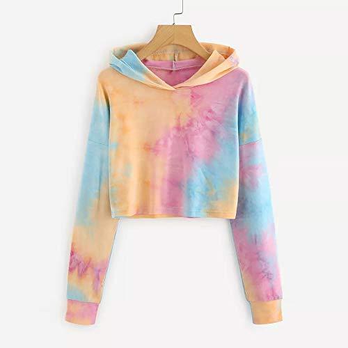 Pullover Sweatshirt Sleeve Morwind Orange Hoodie Long Patchwork Women's Blouse Tops Printed 1wqFqIf0