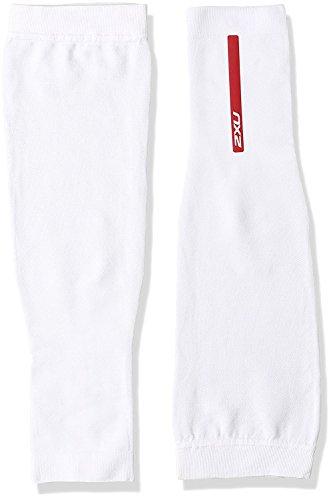 2XU Recovery Compression Arm Sleeve (White, Medium) (2xu Arm Compression Sleeve)