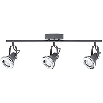 Novogratz Lawrence 3-Light Halogen Track Lighting Kit Gray Finish Chrome Accents 58557  sc 1 st  Amazon.com : trck lighting - azcodes.com