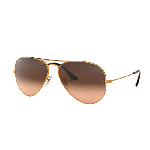 Ray-Ban Sunglasses Bronze Shiny/Brown Metal - Non-Polarized - 58mm