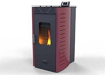 Hidro Estufa de Pellet IRIS kW 15, bio eficiencia clase energética A+ eco calefacción y bioclimatismo sostenible, mando a distancia: Amazon.es: Hogar