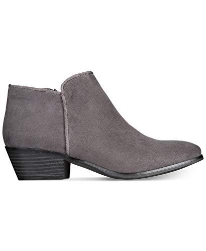(ZIGIny Rebel by Zigi Womens Nanon Block-Heel Booties Grey 8 M US)
