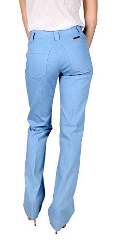 Dolce & Gabbana Women's Straight Leg Denim Jeans Light Blue