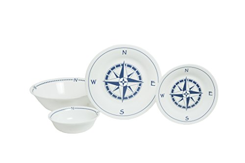 Galleon - Galleyware Company Compass Rose 13 Piece Tempered Glass ...