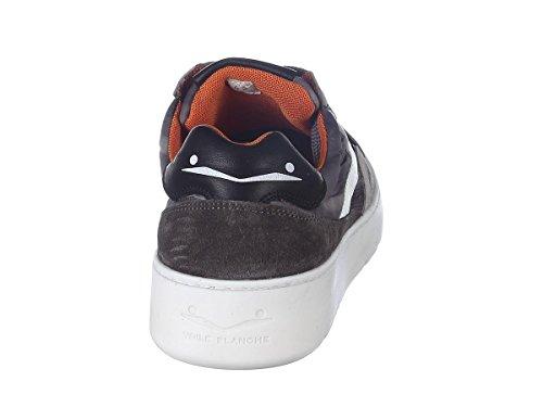 Voile Blanche Scarpe Sneaker Uomo Andy Mesh Velour-Mesh 9105 Grigio-Bianco Primavera Estate 2018