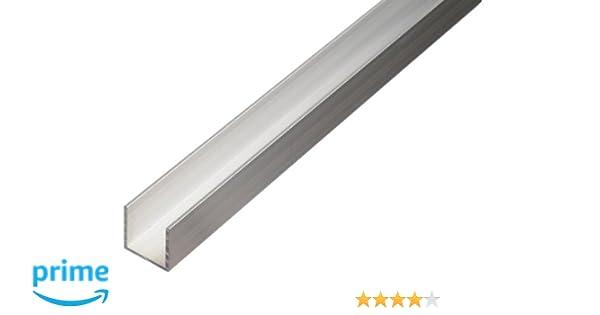 Perfil en U de aluminio para tableros de partículas de 16 y 19 mm: Amazon.es: Bricolaje y herramientas
