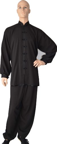 "Tai Chi Uniform Set (Black, Adult Small (height:5"",weight:120lbs-150lbs)"